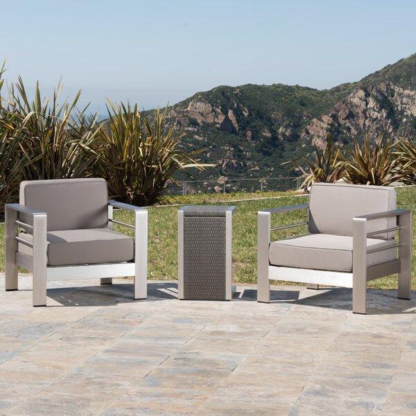 Durbin 3 Piece Conversation Set with Cushions by Wade Logan