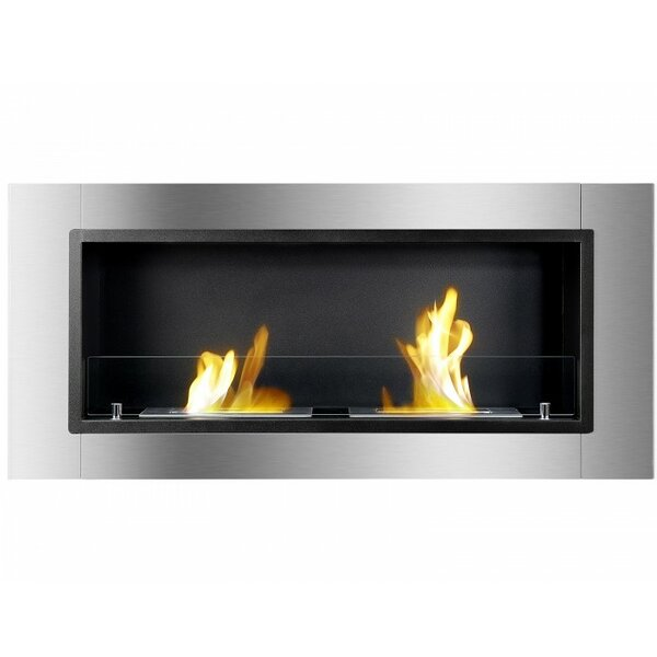 Kuske Recessed Wall Mounted Ethanol Fireplace By Orren Ellis