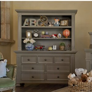 traditional classic 7 drawer standard dresser with hutch