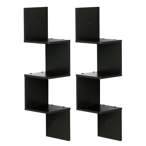Lansdale 3 Shelf Wall Mount Corner Shelf Set (Set of 2) by Ebern Designs
