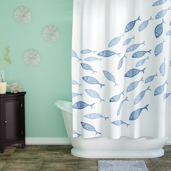 Cedarville Polyester Coastal Shower Curtain by Highland Dunes