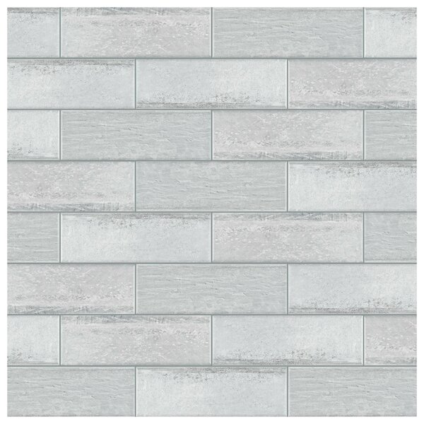 Aetolia 4 x 12.13 Porcelain Field Tile in Gray by EliteTile