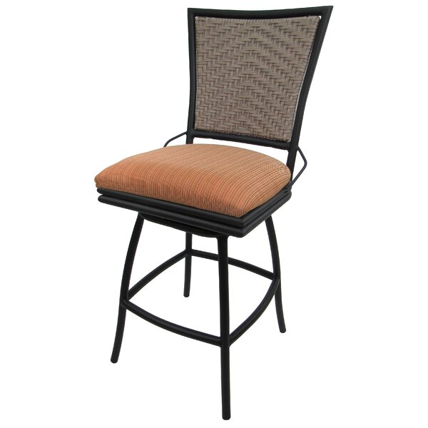 Horing 26-inch Patio Bar Stool with Cushion by Charlton Home Charlton Home