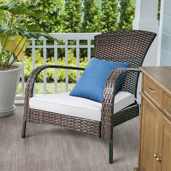 Gandara Outdoor Rattan Lightweight Adirondack Chair By Charlton Home