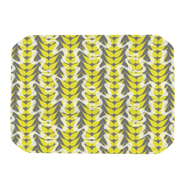 Whirling Leaves Placemat by KESS InHouse