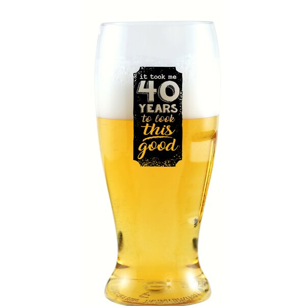 Beilby It Took Me 40 Years 10 oz. Beer Tumbler by Winston Porter