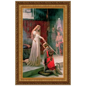 The Accolade, 1901 by Edmund Blair Leighton Framed Painting Print by Design Toscano