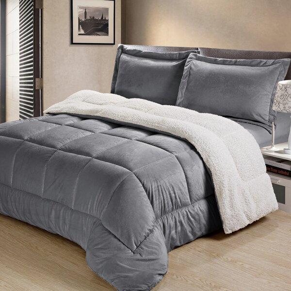 Abbey Box Reversible Comforter Set by Charlton Home