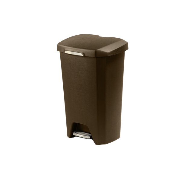 Hefty 12.2 Gallon Step On Trash Can (Set of 2) by Hefty