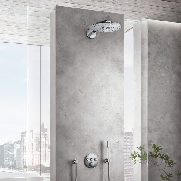 SmartActive Multi Function Fixed Shower Head With SpeedClean Nozzles By GROHE