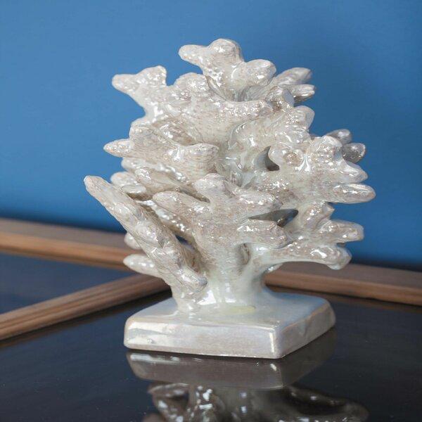 Sikora Ceramic Coral Sculpture by Highland Dunes