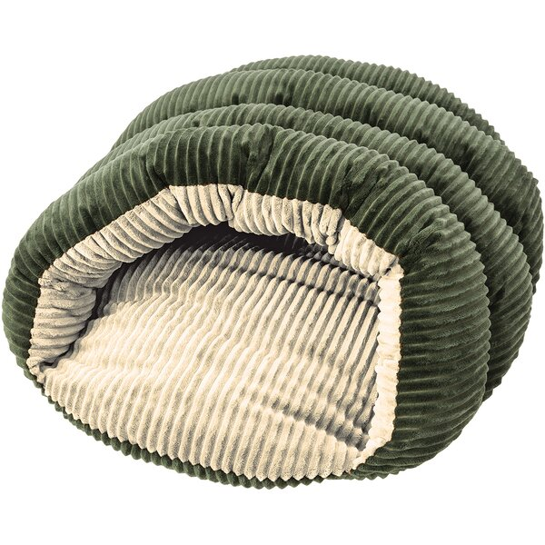 Sleep Zone Cuddle Cave Corduroy Hooded Dog Bed by Ethical Pet