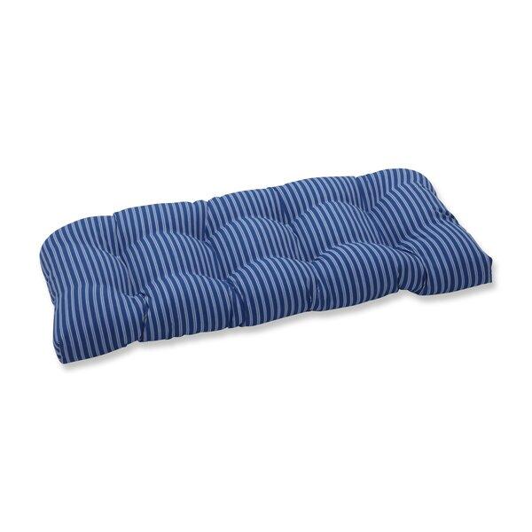 Horne Stripe Wicker Indoor/Outdoor Loveseat/Sofa Cushion