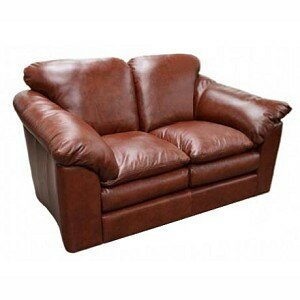 Oregon Leather Loveseat by Omnia Leather