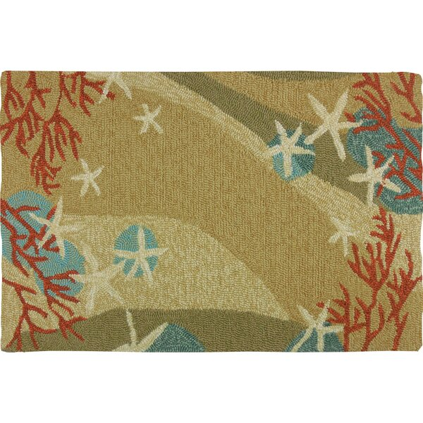 Cloverfield Starfish and Coral Indoor/Outdoor Area Rug by Highland Dunes
