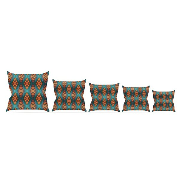 Diamond Sea by Anne Labrie Throw Pillow by East Urban Home