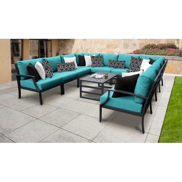 Benner 11 Piece Sectional Seating Group with Cushions by Ivy Bronx