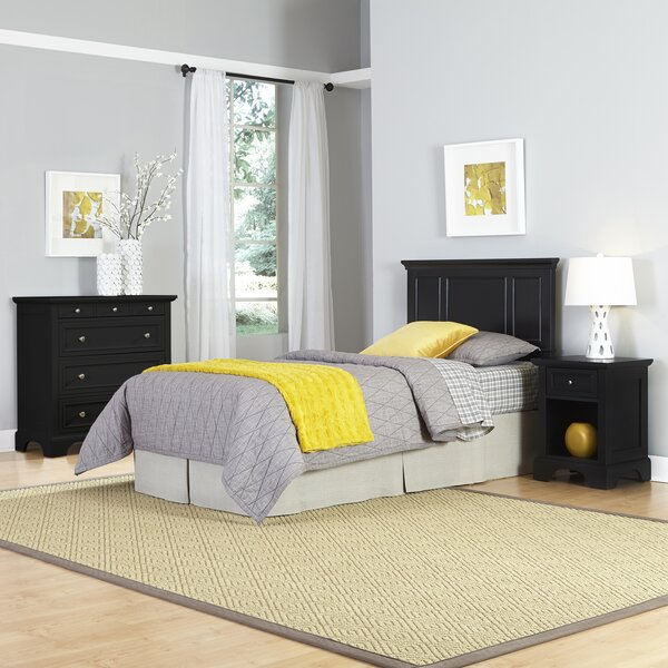 Palmhurst Panel 3 Piece Bedroom Set by Harriet Bee
