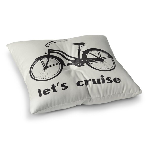 Howard Lets Cruise Outdoor Floor Pillow by Rosecliff Heights