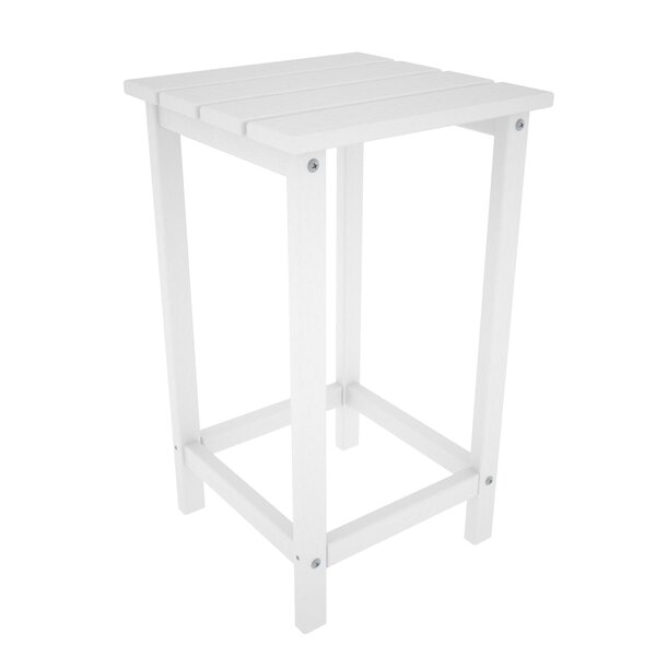Long Island Counter Solid Wood Side Table by POLYWOOD®