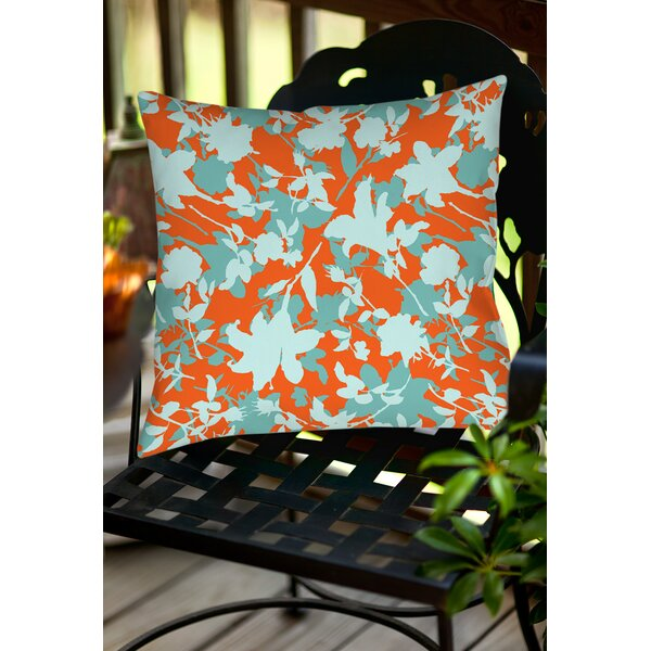Chloe Floral 5 Indoor/Outdoor Throw Pillow by Manual Woodworkers & Weavers