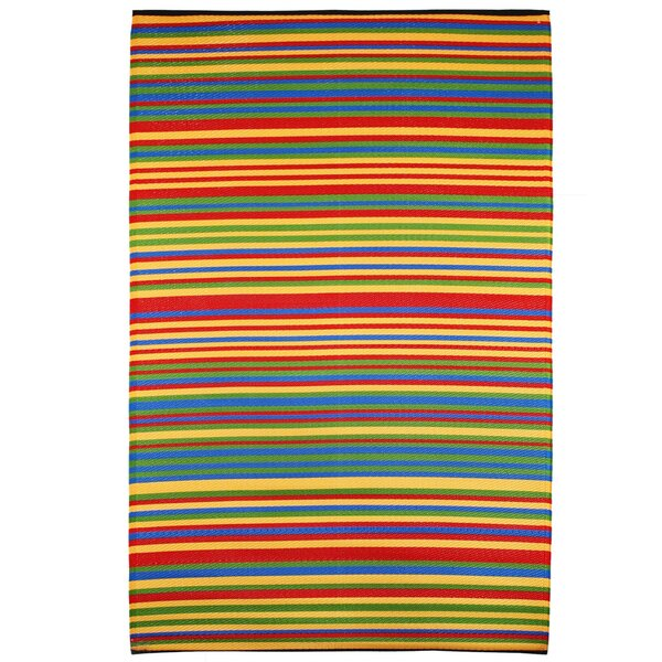 Yellow/Green/Red Indoor/Outdoor Area Rug by Green Decore