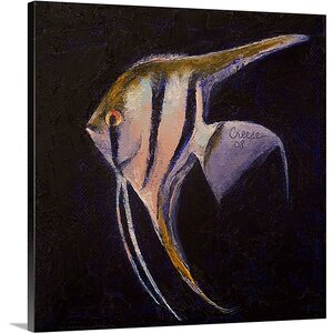 Angelfish by Michael Creese Painting Print on Canvas by Canvas On Demand