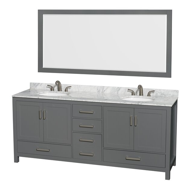 Sheffield 80 Double Bathroom Vanity Set with Mirror