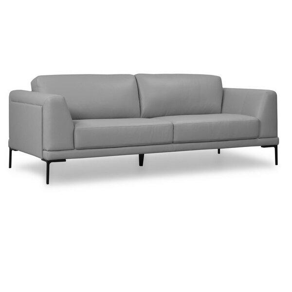 Joachim Leather Sofa By Orren Ellis