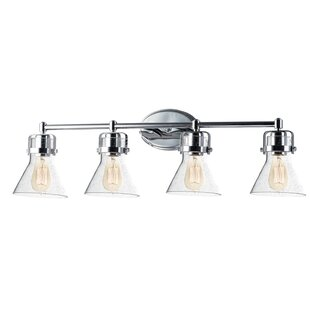 Reviews Nicastro 4-Light Vanity Light By Williston Forge