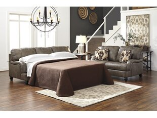 McDonald Queen Leather Sleeper Sofa by Darby Home Co