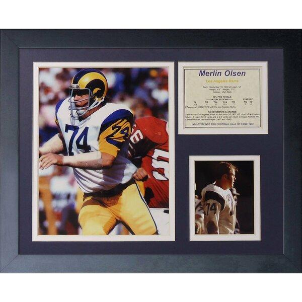 Merlin Olsen Framed Memorabilia by Legends Never Die