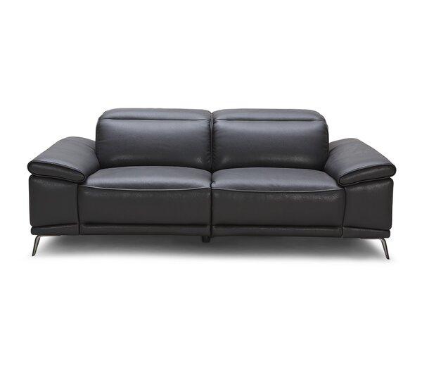 Carnegie Leather Reclining Sofa by Wade Logan