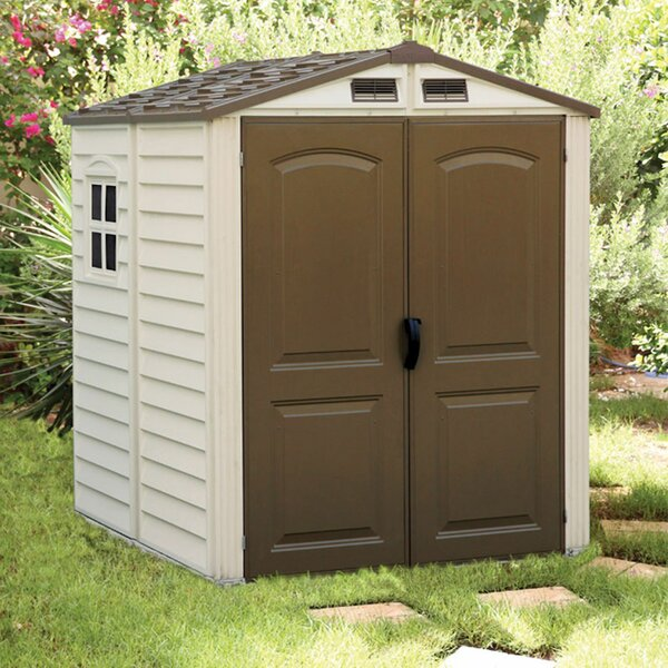 StoreMate 6 ft. 2 in. W x 6 ft. 2 in. D Plastic Storage Shed by Duramax Building Products