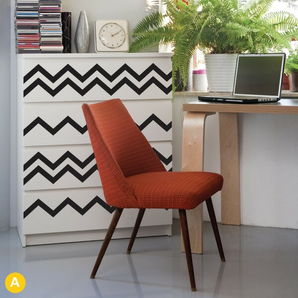 Gretchen Chevrons Wall Sticker/Decal by Harriet Bee