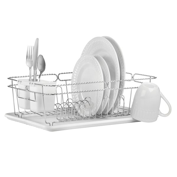 3 Piece Twisted Dish Rack Set by Simplify