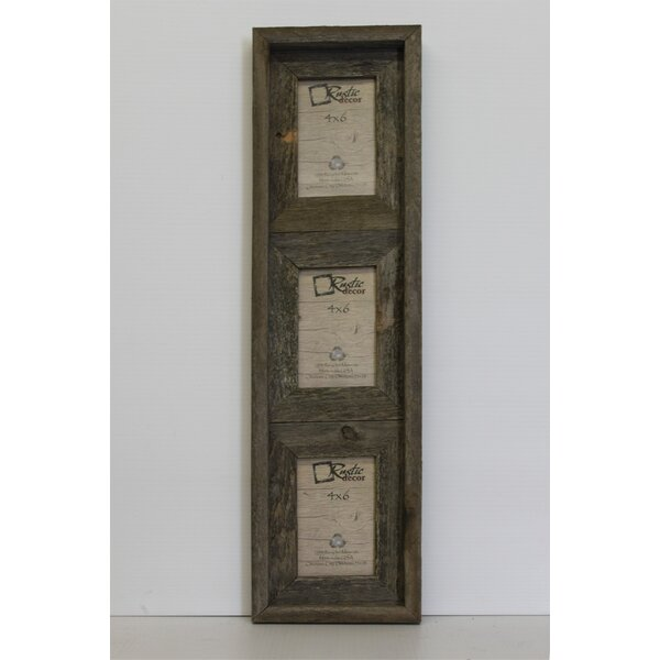 Farina Barn Wood Vertical 3 Opening Collage Picture Frame by Loon Peak