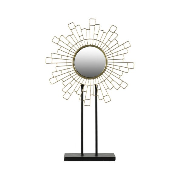 Tathana Cityscape Accent Mirror on Rectangular Stand by Everly Quinn