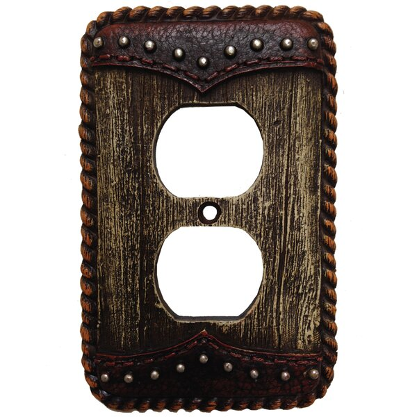 Woodgrain with Double Yoke Outlet Cover (Set of 4) by HiEnd Accents
