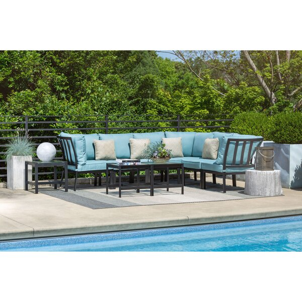 Cormier 9 Piece Modular Sectional Seating Group with Cushions by Rosecliff Heights