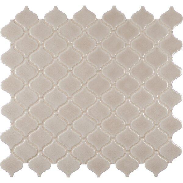 Fog Arabesque Ceramic Mosaic Tile in Gray by MSI