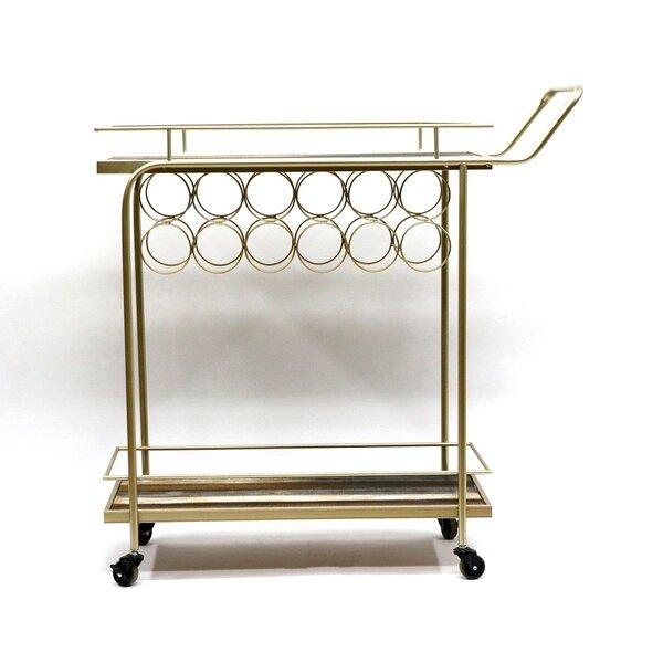 Lavinia Bar Cart by Rosdorf Park Rosdorf Park