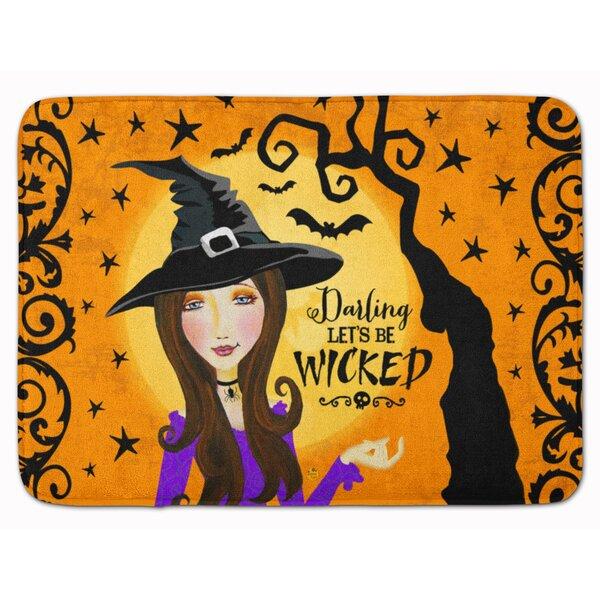 Eila Wicked Witch Rectangle Microfiber Non-Slip Bath Rug