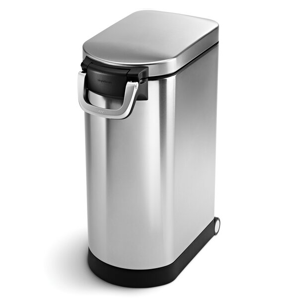 X-Large Pet Food Can, Brushed Stainless Steel by simplehuman