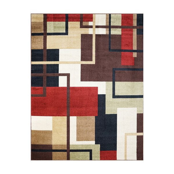 Adan Red/Black Indoor/Outdoor Area Rug by Latitude Run