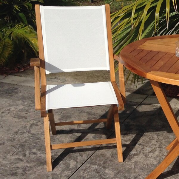 Miami Folding Teak Patio Dining Chair (Set of 2) by Chic Teak