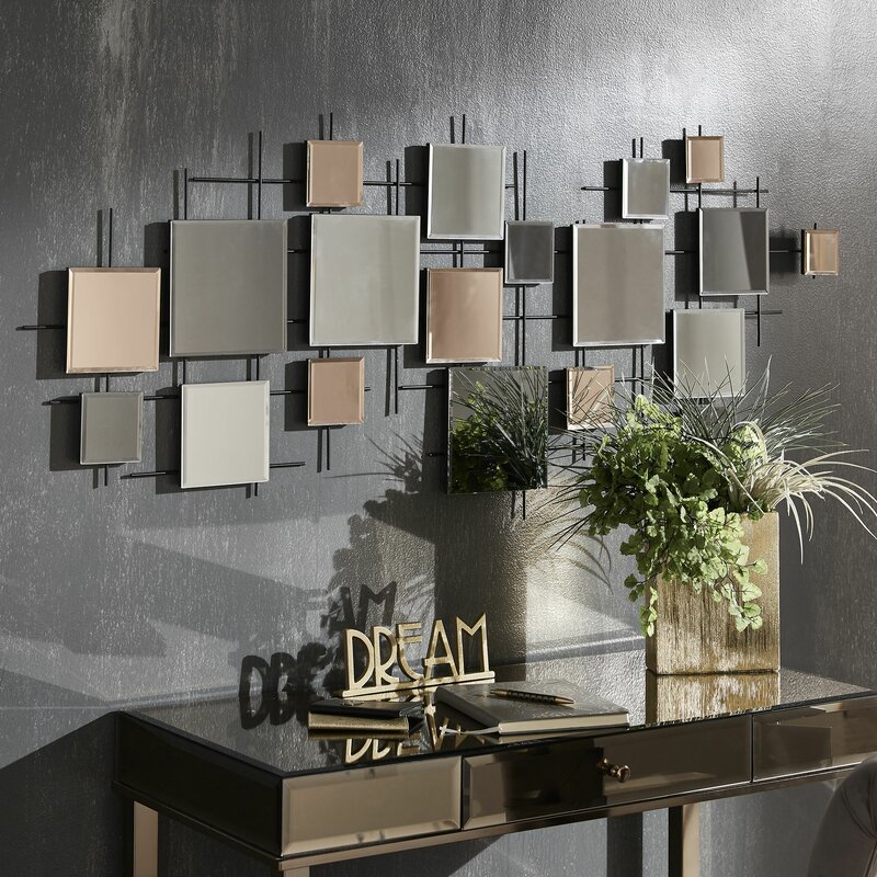 Brayden Studio Viborg Multiple Decorative Modern Contemporary Frameless Wall Mirror Reviews Wayfair