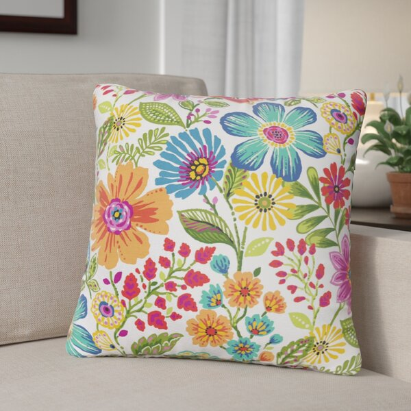 Paxton Floral Indoor/Outdoor Throw Pillow (Set of 2) by Andover Mills