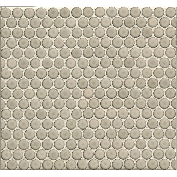 Penny Round .75 x .75 Porcelain Mosaic Tile in Light Gray by Grayson Martin