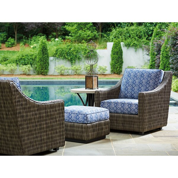 Cypress Point Ocean Terrace Patio Chair with Cushion and Ottoman by Tommy Bahama Outdoor